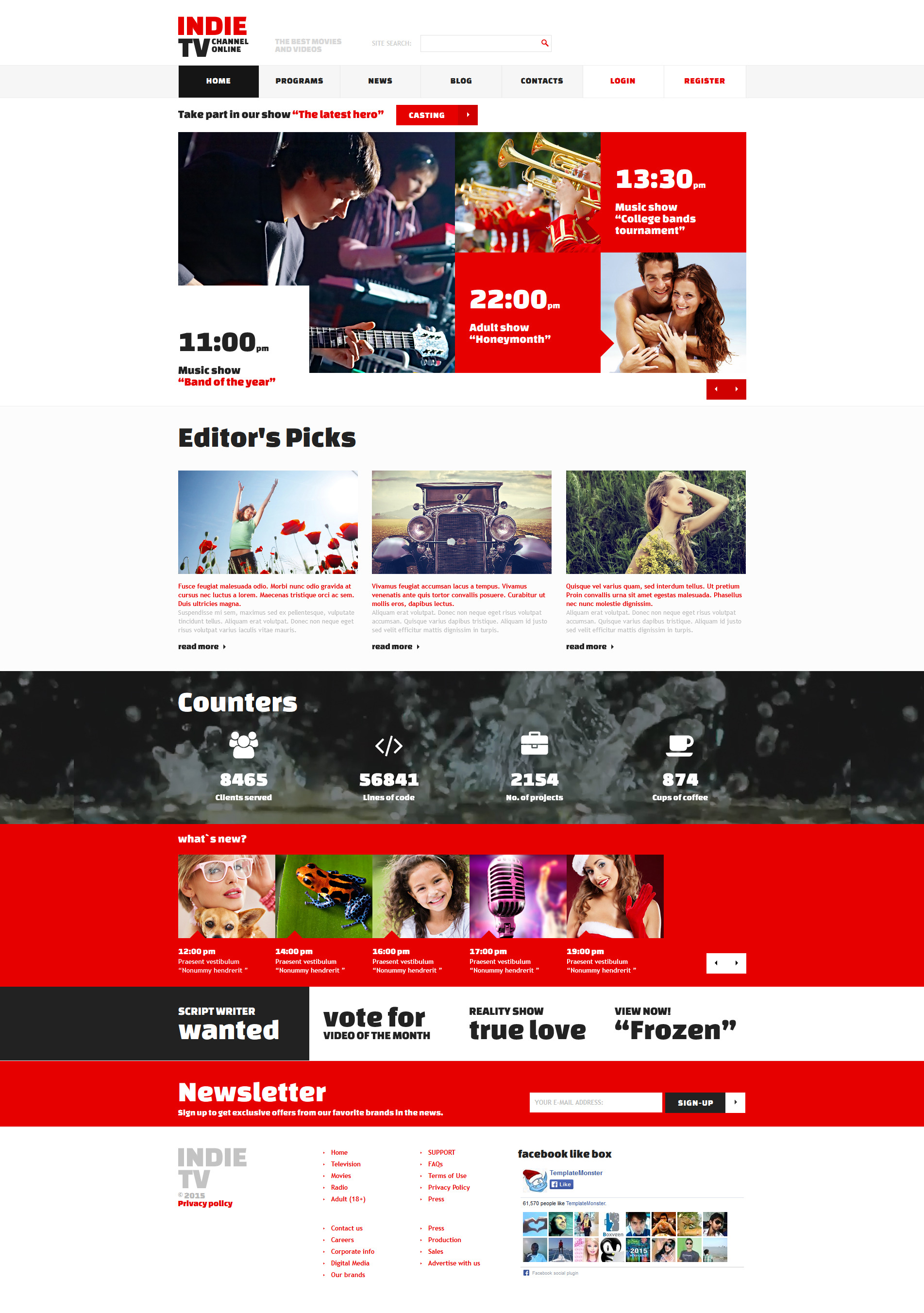 Responsive Joomla Template over Tv-zender №52689 - screenshot