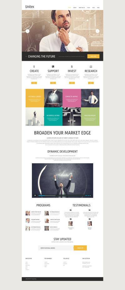 Responsywny szablon strony www #52655 na temat: biznes i usługi