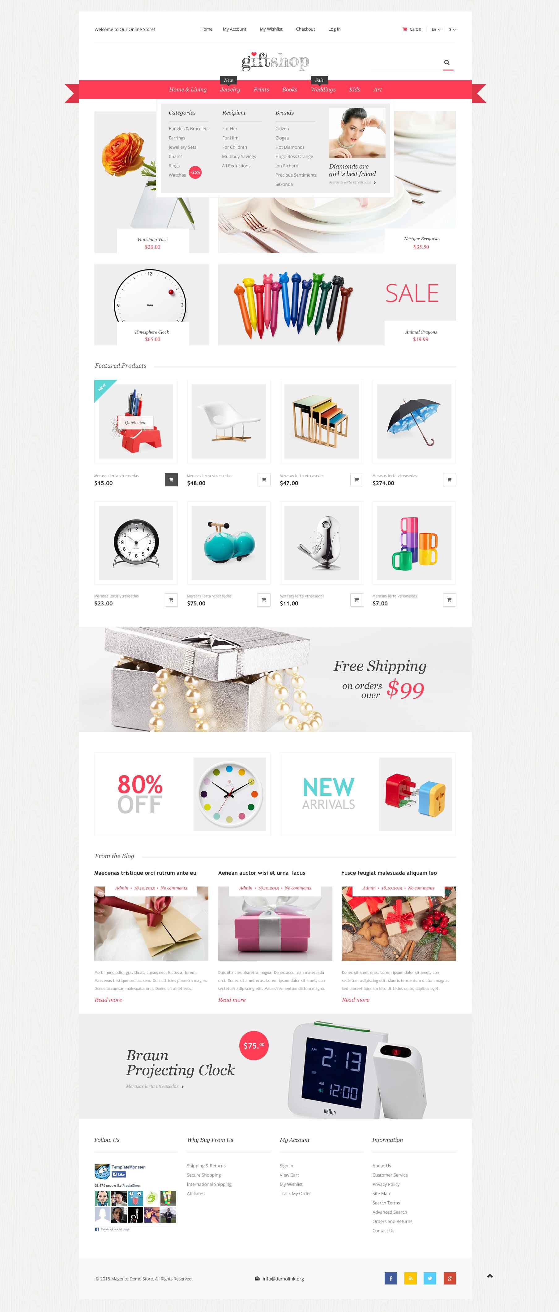 """Responzivní Magento motiv """"Gift Shop"""" #52673"""