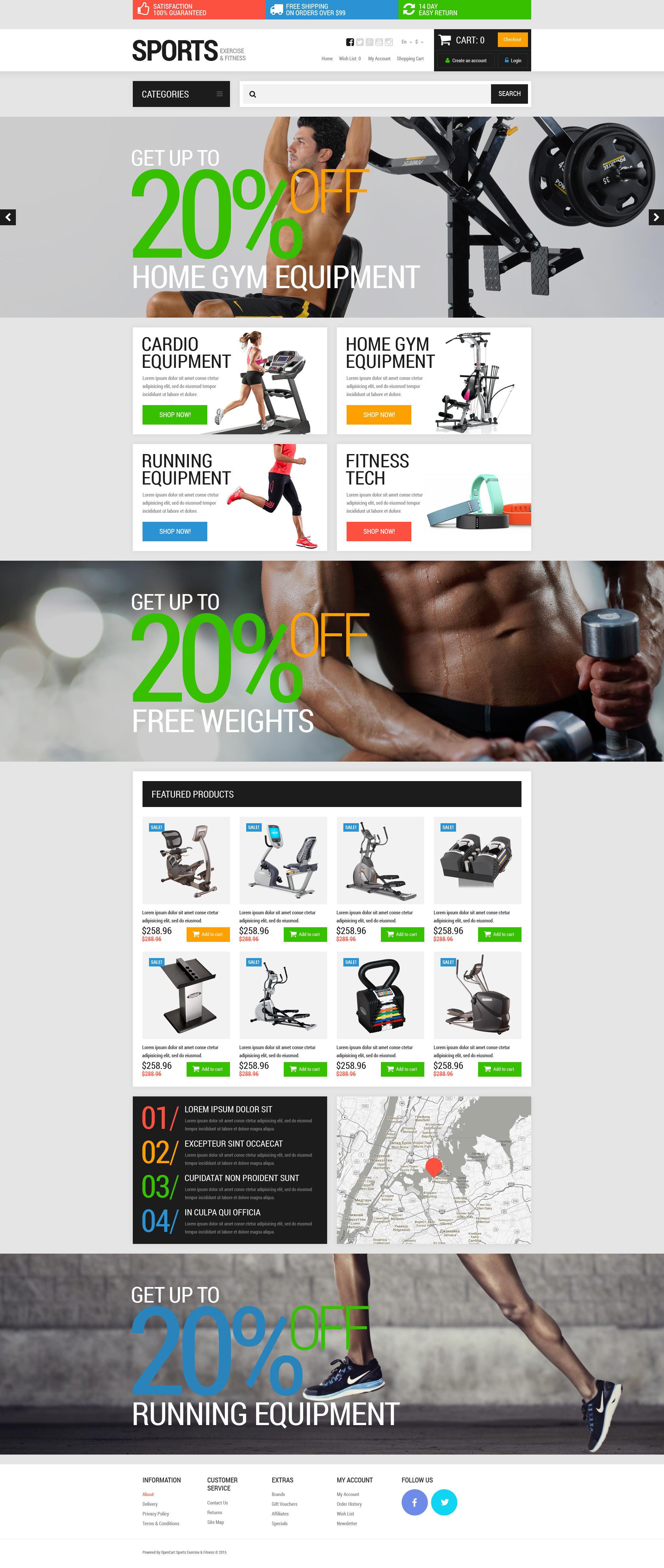"""Responzivní OpenCart šablona """"Active Sports Store"""" #52684"""