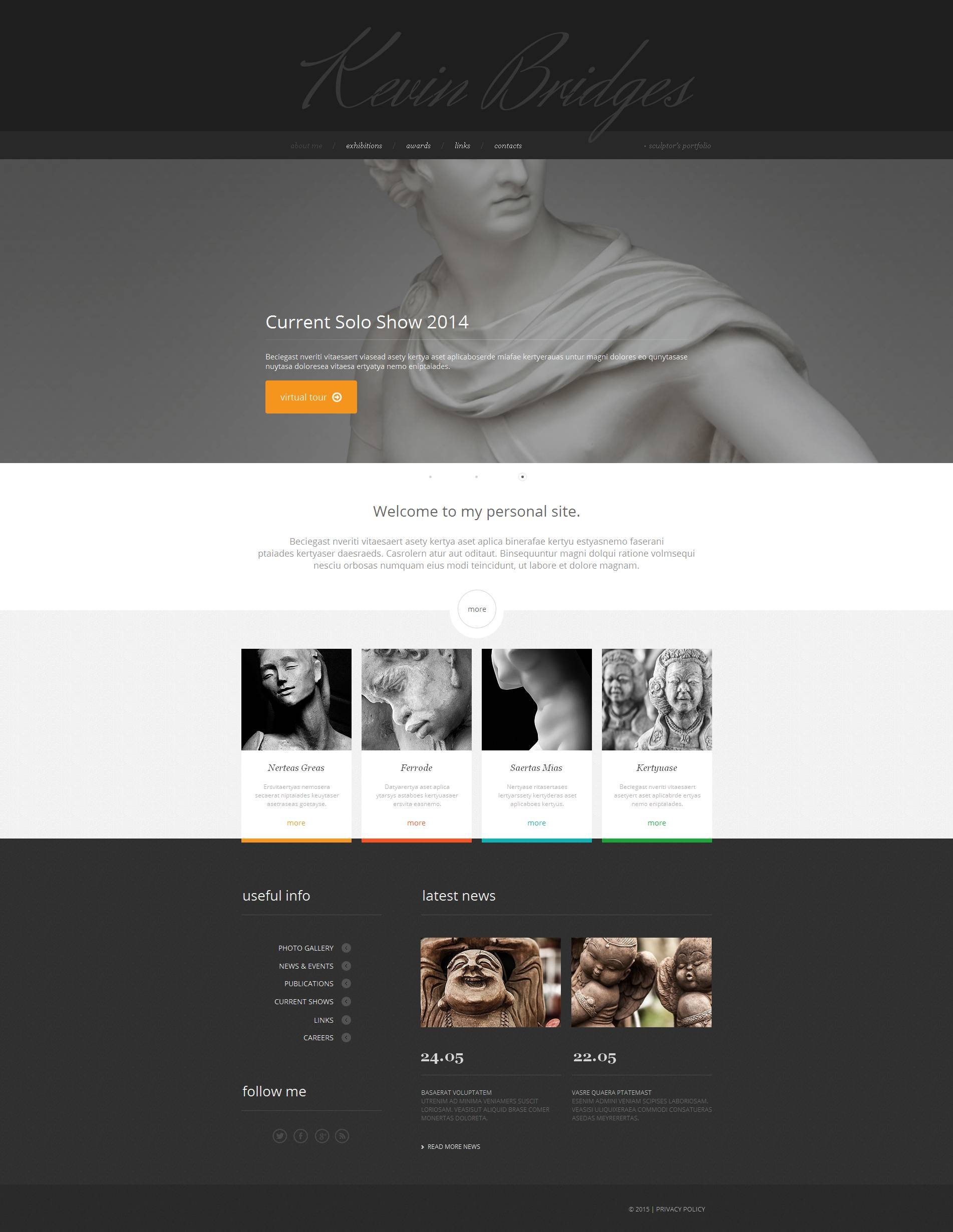 Sculpture Moto CMS HTML Template