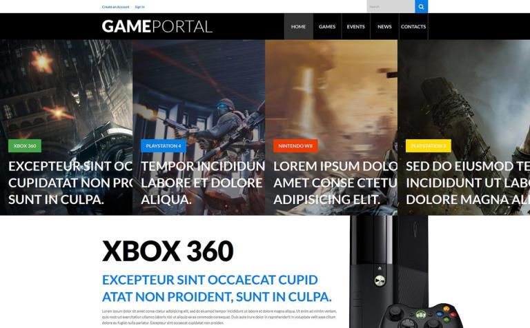 Tema de WordPress #52656 para Sitio de Portal de Juegos