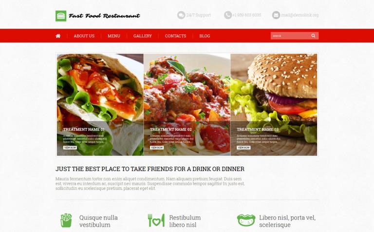 Tema de WordPress #52640 para Sitio de Restaurantes de comida rápida