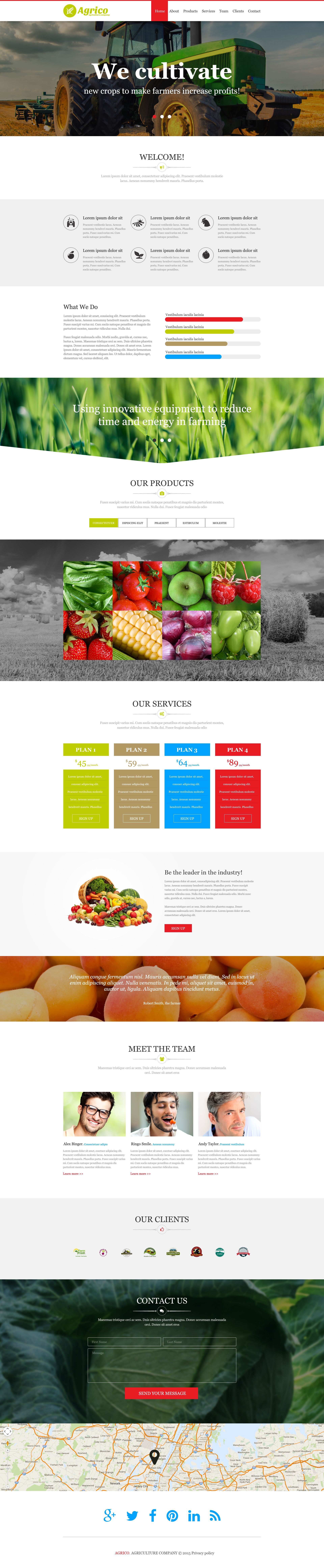 Tema Muse #52629 per Un Sito di Agricoltura