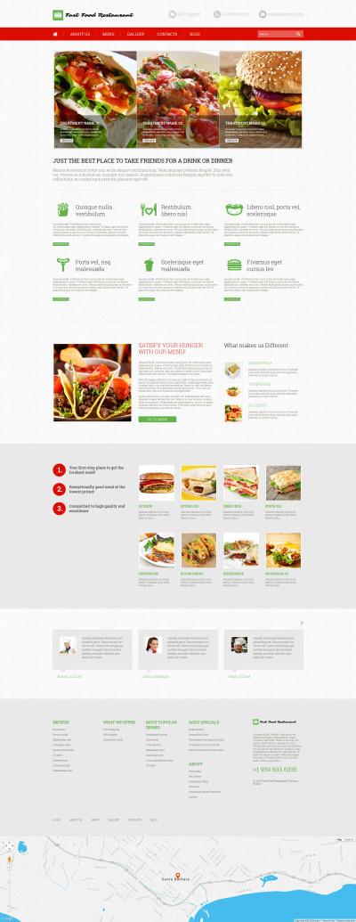 Flexível tema WordPress №52640 para Sites de Fast Food