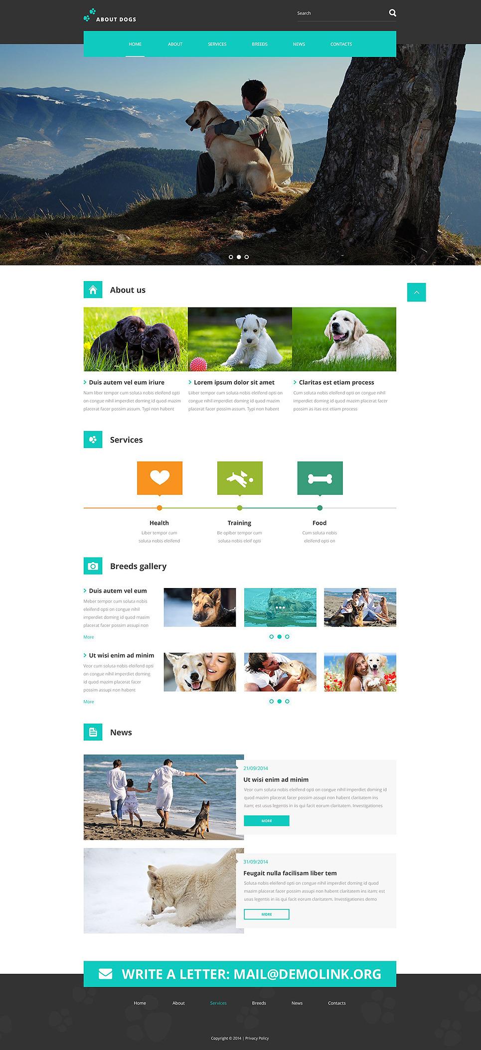 Template About Dogs Website Template New Screenshots BIG
