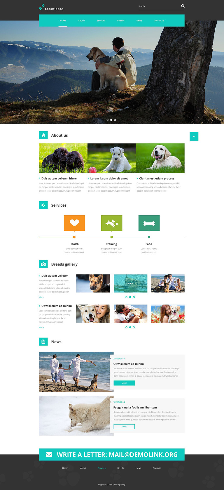 Template About Dogs Website Template New Screenshots BIG