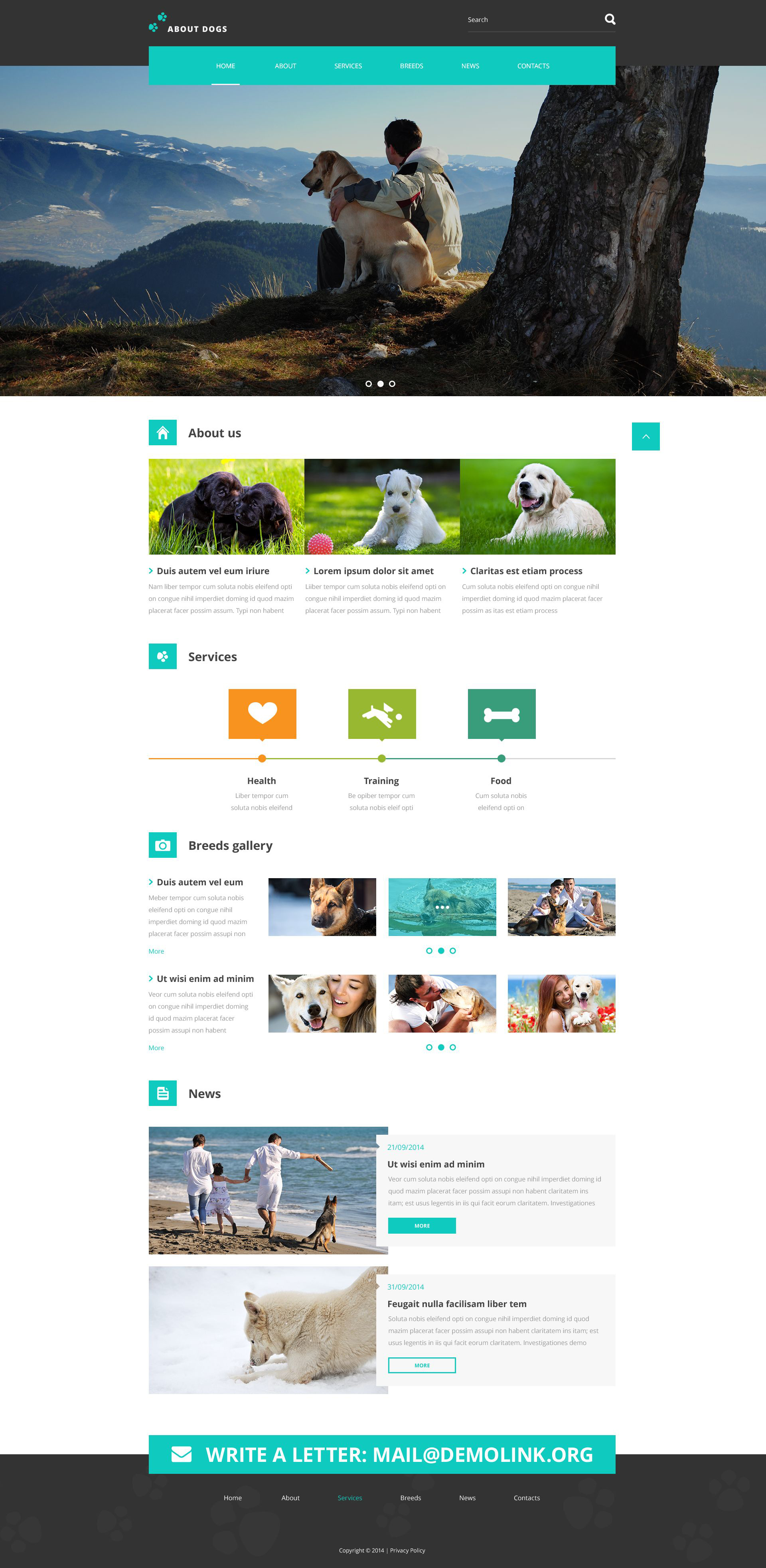 Template About Dogs Website Template #52634