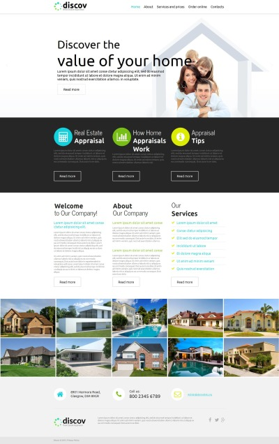 Template Moto CMS HTML №52605 para Sites de Agencia imobiliária