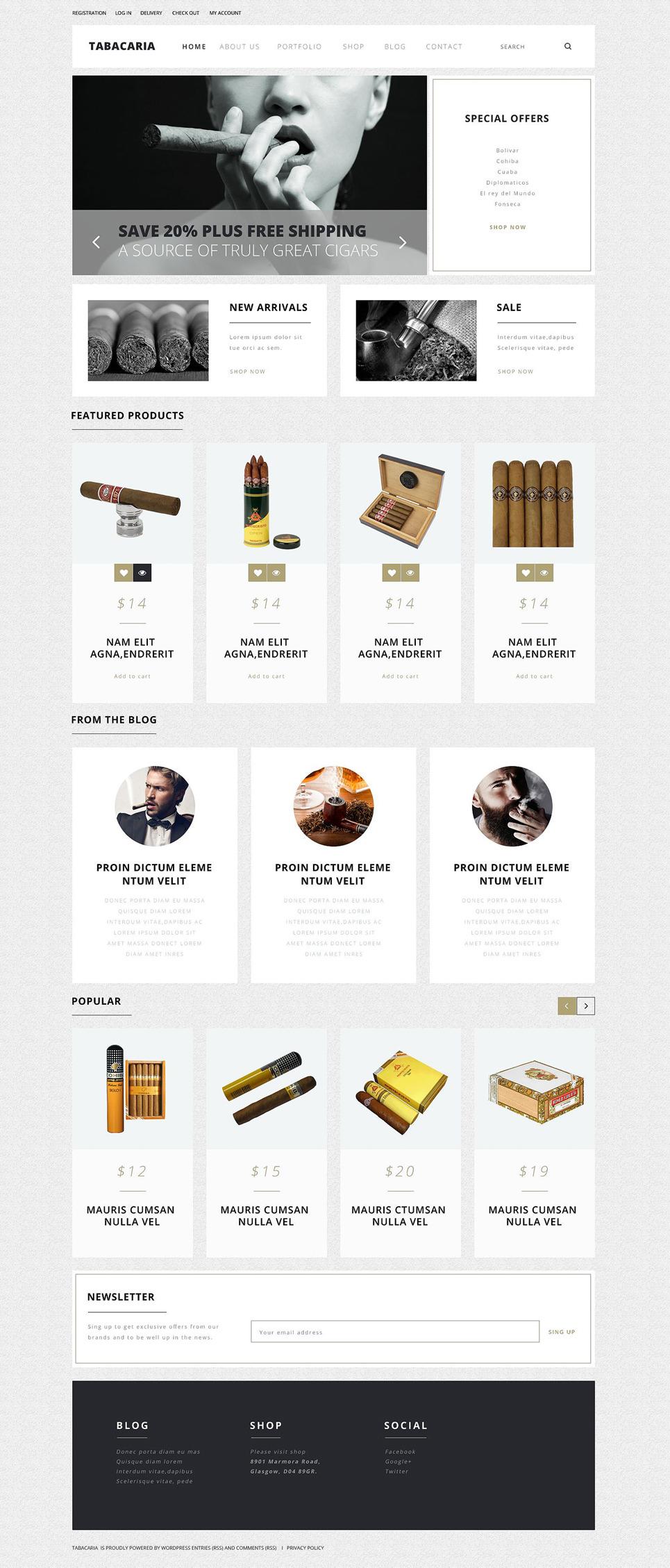 Tobacco Shop WooCommerce Theme New Screenshots BIG