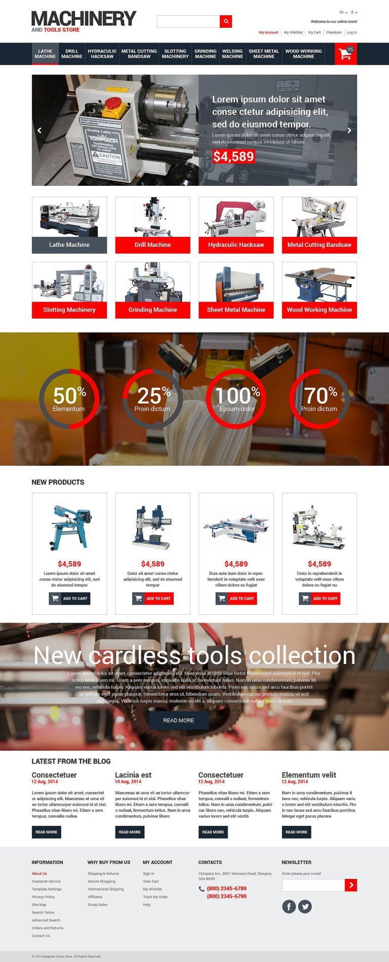 Tools & Equipment Responsive Magento Theme New Screenshots BIG
