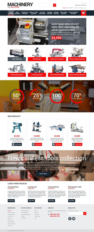 Tools & Equipment Responsive Magento Theme #52659