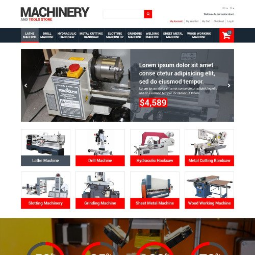 Machinery & Tools Store - Magento Template based on Bootstrap