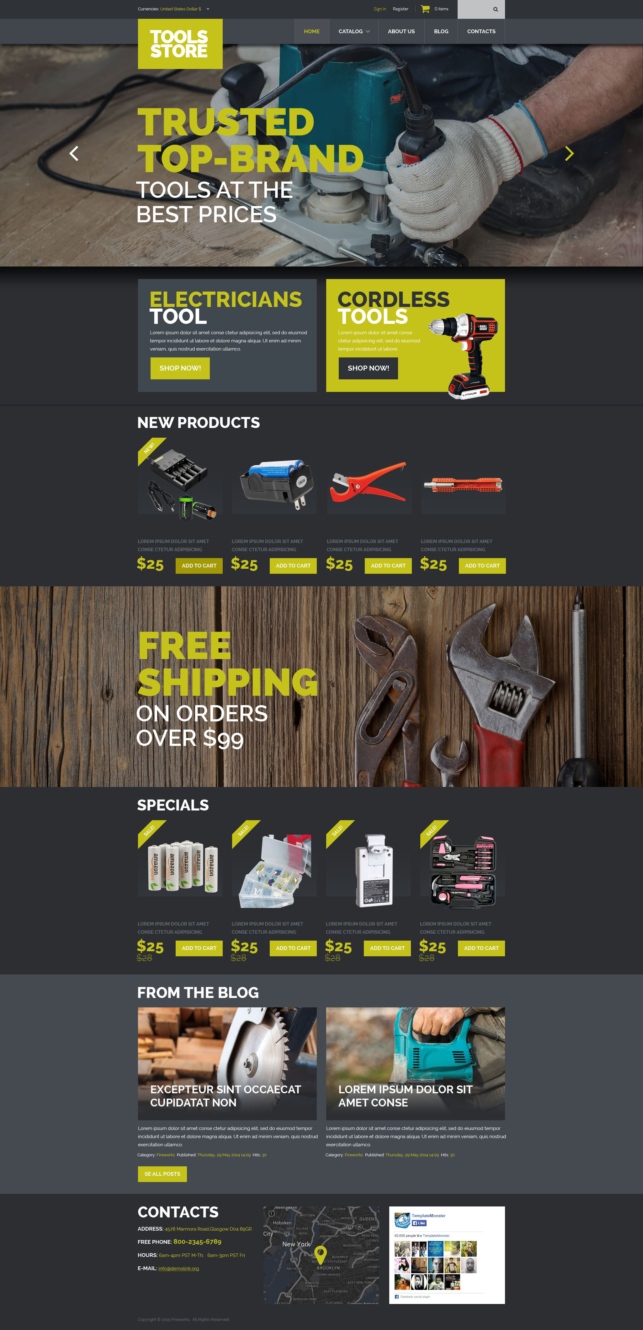 """Tools  Equipment"" VirtueMart Template №52698"
