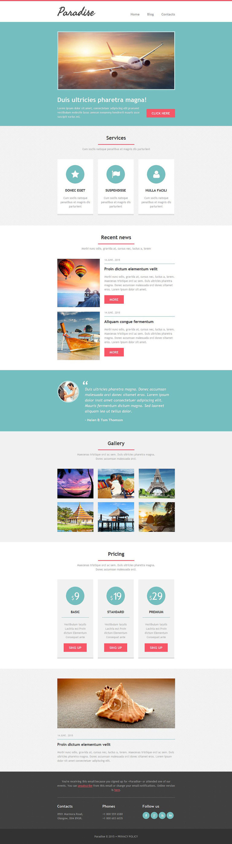 Travel Agency Newsletter Template New Screenshots BIG