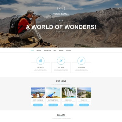 Travel Guide Moto CMS HTML Template #52622