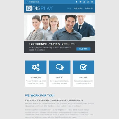 Web Design Responsive Newsletter Template - Web design newsletter template
