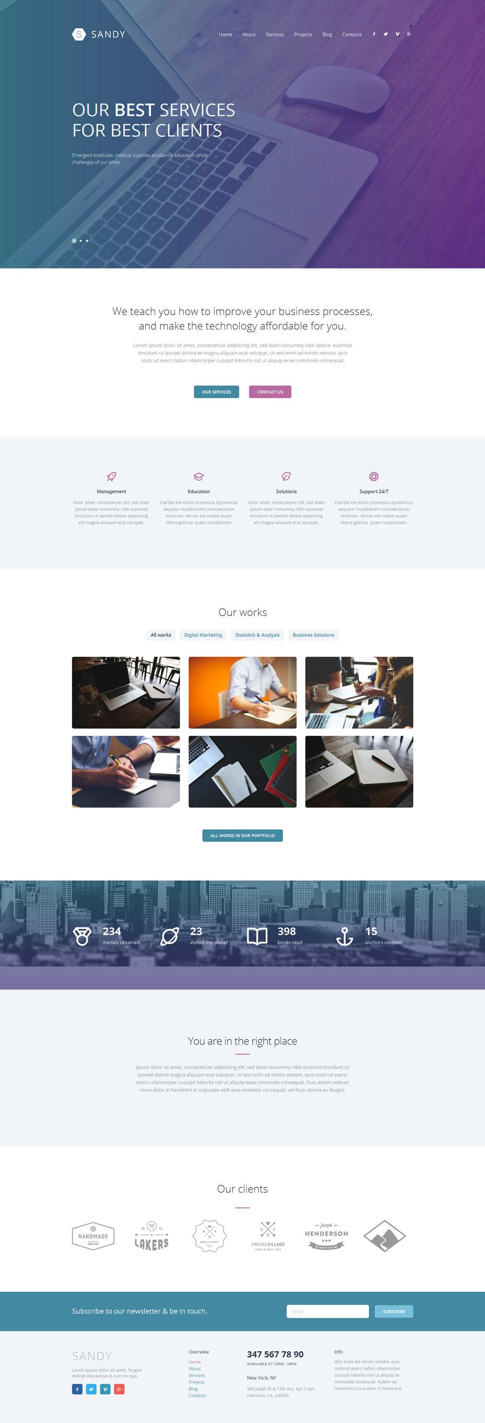 Demo Preview for Web Design Responsive WordPress Theme #52603