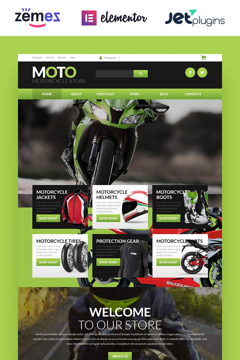 "WooCommerce Theme namens ""Motorrad-Shop"" #52675"
