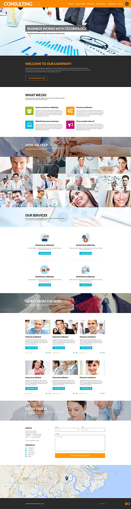 WordPress Theme/Template 52700 Main Page Screenshot