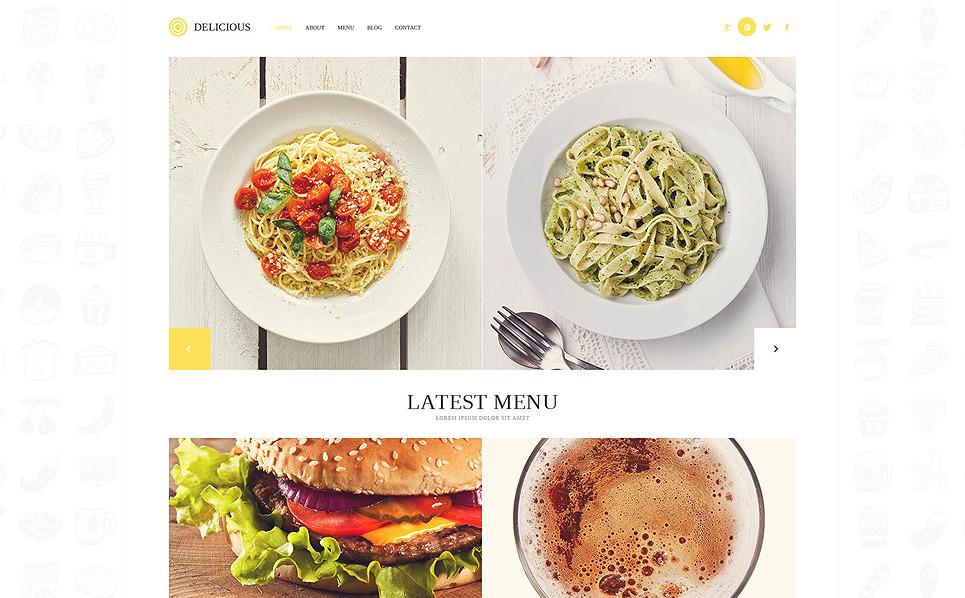 Responsive WordPress thema over Europees Restaurant New Screenshots BIG