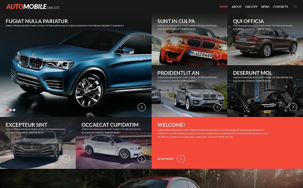 Адаптивний Шаблон сайту на тему автоклуб New Screenshots BIG