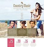 Music Website  Template 52716