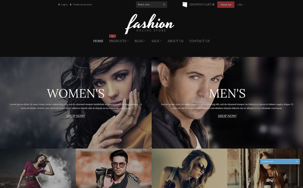 Адаптивний Shopify шаблон на тему мода New Screenshots BIG