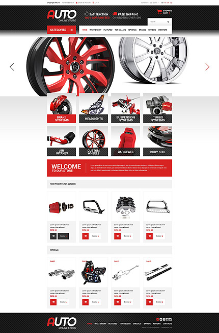 osCommerce Template 52731 Main Page Screenshot