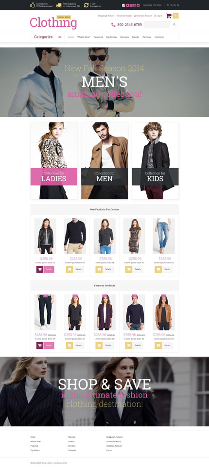 osCommerce Template 52732 Main Page Screenshot
