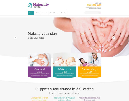 Women's Consulting Website Template