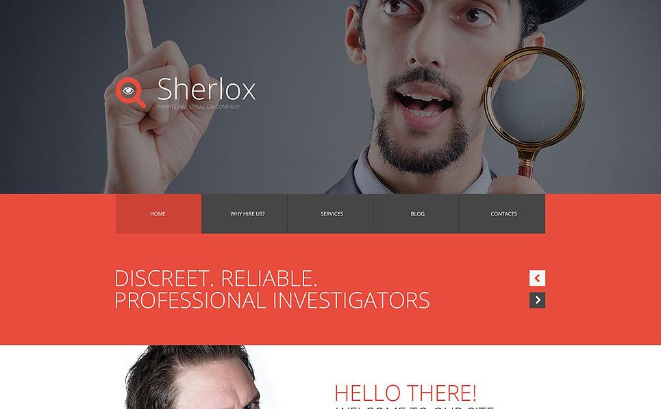 Responsive Website template over Privédetective New Screenshots BIG