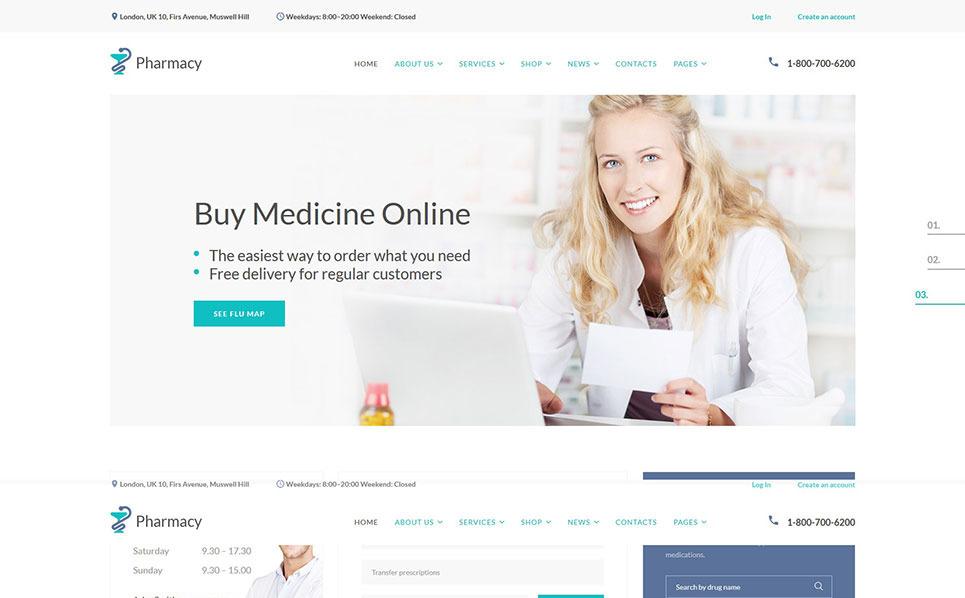 Responzivní Šablona webových stránek na téma Lékárna New Screenshots BIG