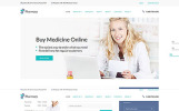 """""""Pharmacy - Medical Multipage HTML5"""" 响应式网页模板"""