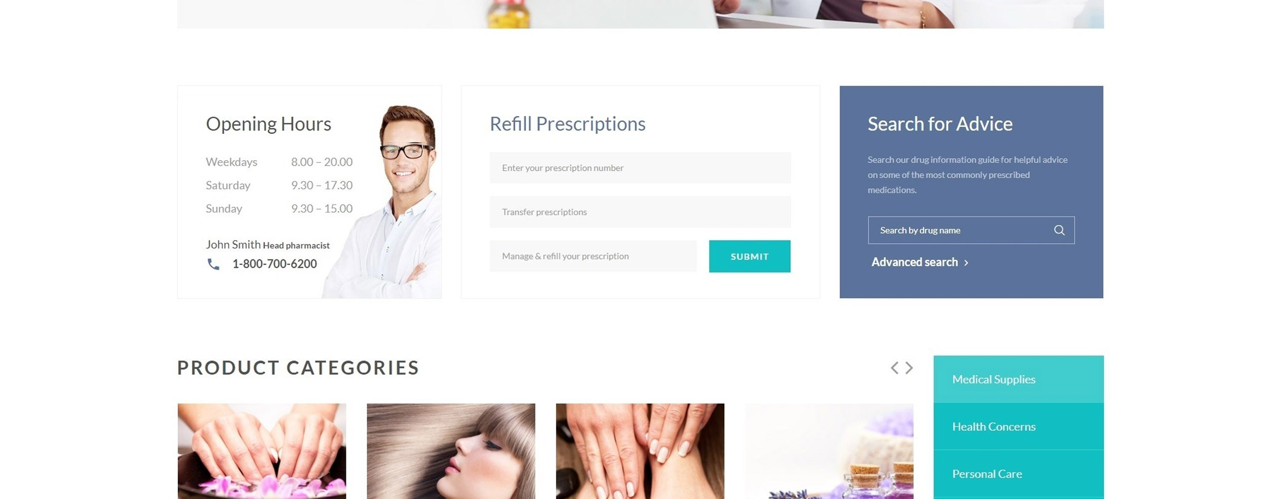 Pharmacy medical multipage html5 template pharmacy medical multipage html5 website template big screenshot zoom in live demo maxwellsz