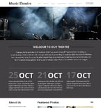 Entertainment Website  Template 52749