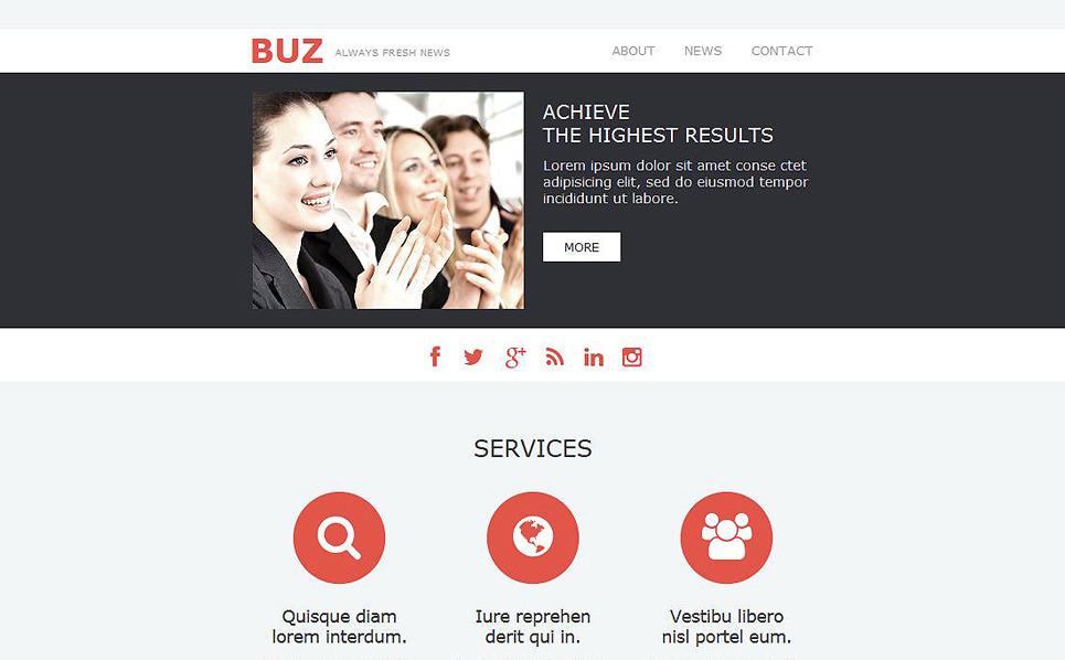 Responsive İş ve Hizmetler Haber Bülteni Şablon New Screenshots BIG