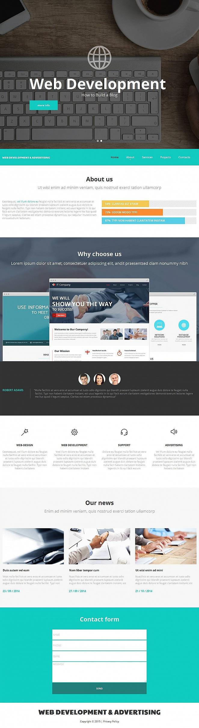 Web Development Company Website Template - image