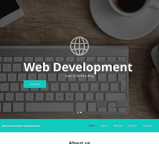 Modèle Moto CMS HTML  pour site de développement Web New Screenshots BIG