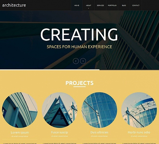 Premium Moto CMS HTML Template over Architectuur New Screenshots BIG