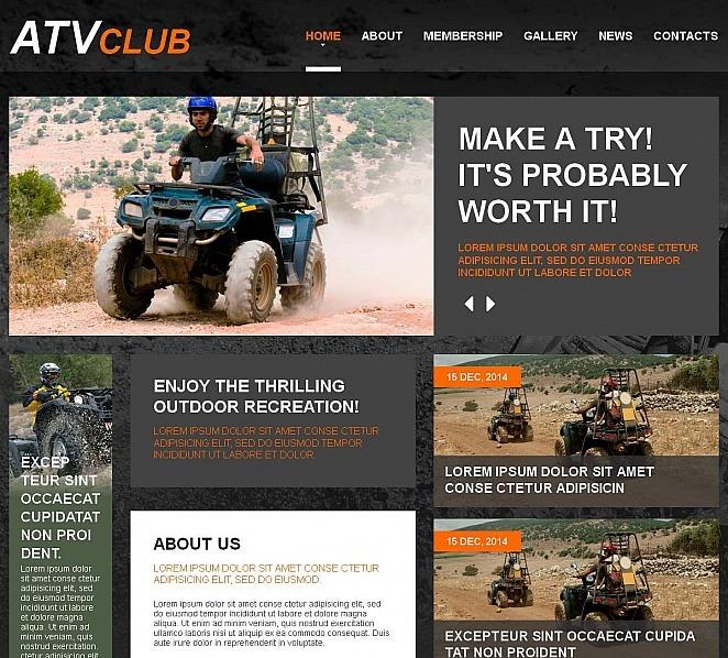 MotoCMS HTML шаблон на тему мотоспорт New Screenshots BIG