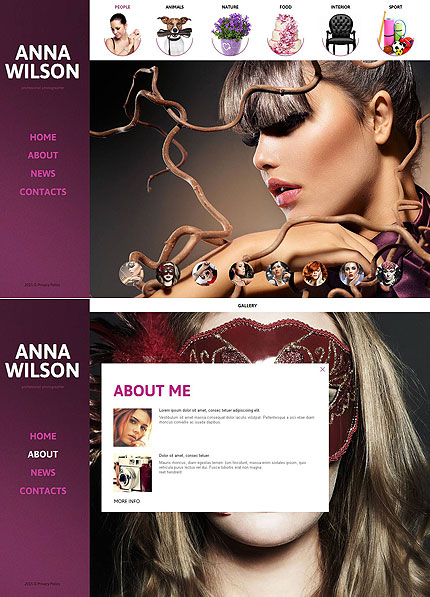 ADOBE Photoshop Template 52779 Home Page Screenshot