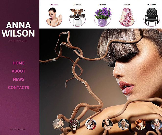 Photography Website Template with Creative Portfolio Gallery - image
