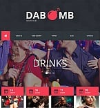 Night Club Moto CMS HTML  Template 52782