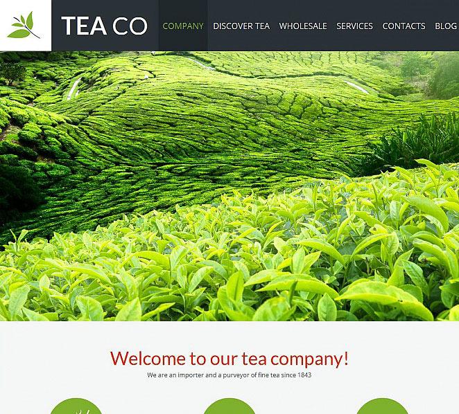 Template Moto CMS HTML para Sites de Loja de Chá №52786 New Screenshots BIG