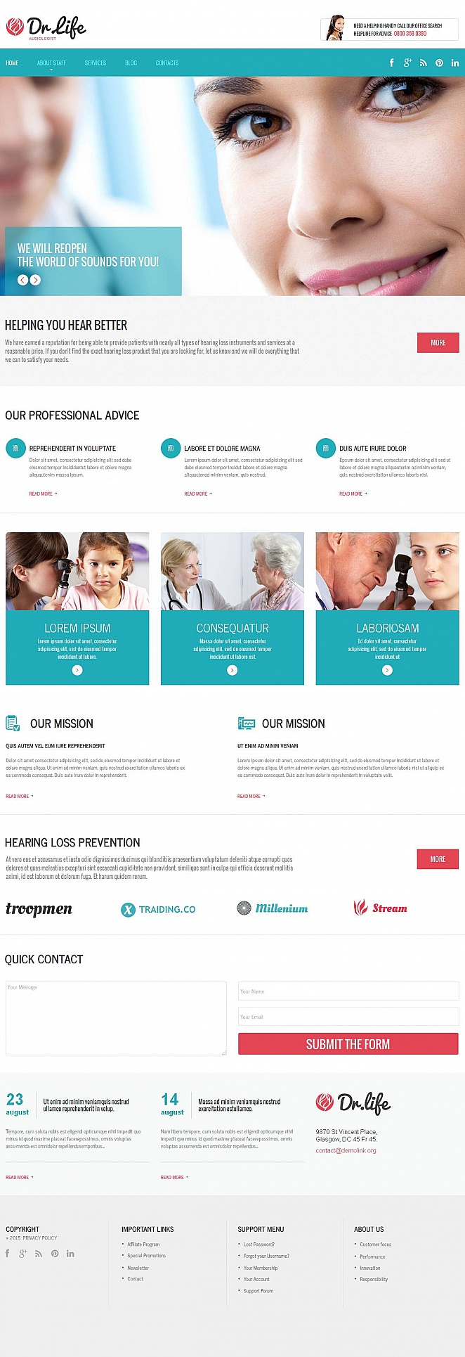 Audiology Website Template for Doctors - image