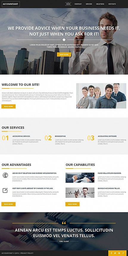 ADOBE Photoshop Template 52790 Home Page Screenshot