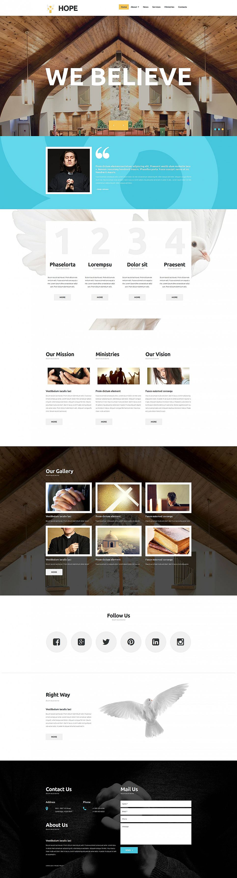 Responsive Church Website Template - image