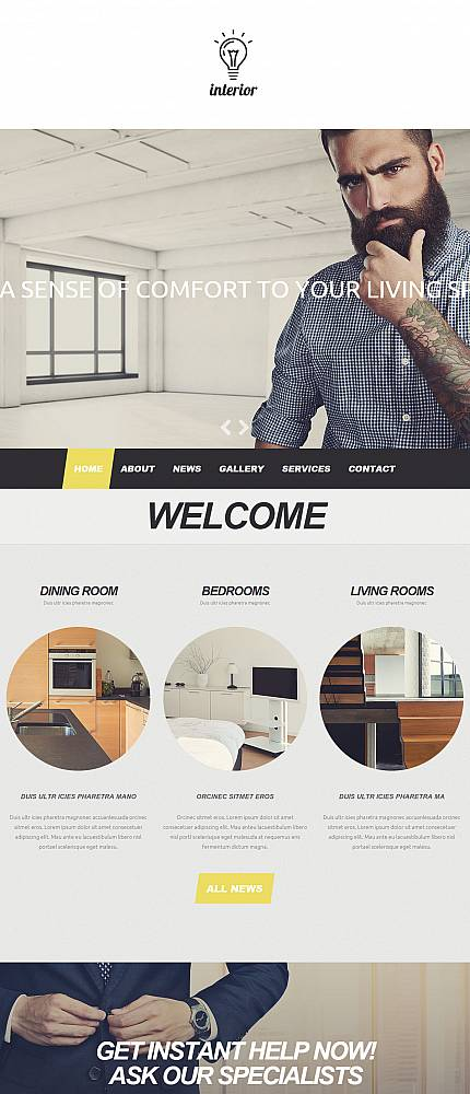 ADOBE Photoshop Template 52797 Home Page Screenshot