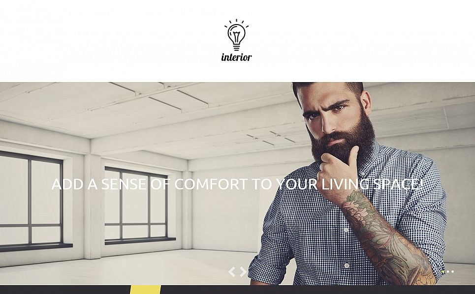 Responsive Moto CMS 3 Template over Interieur & Meubels New Screenshots BIG